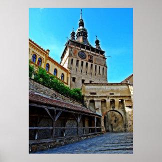 Sighisoara - Dracula's Birthplace Clocktower Poster
