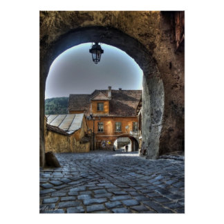 Sighisoara - Dracula's Birthplace Medieval city Poster