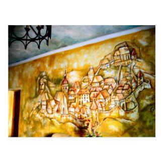 Sighisoara, mural de la ciudad medieval postales