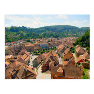 Sighisoara, Roofs of the city Postcard