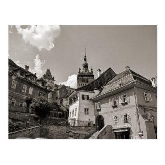 Sighisoara, Steps to the clocktower Postcard