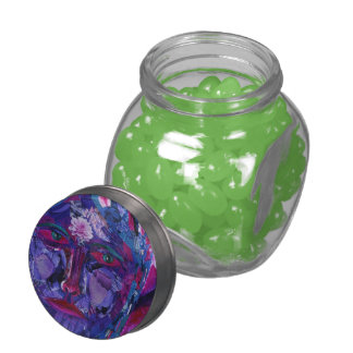 Sight, Abstract Magenta Violet Inner Vision Glass Candy Jars