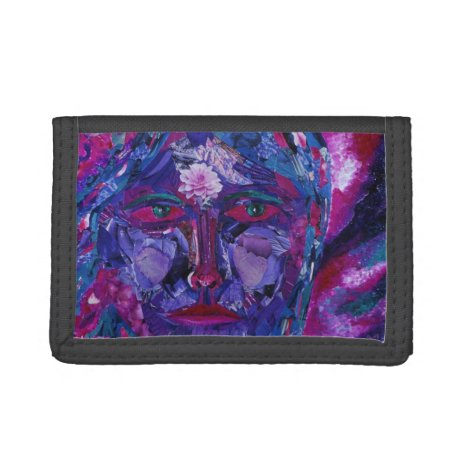 Sight, Abstract Magenta Violet Inner Vision Tri-fold Wallet