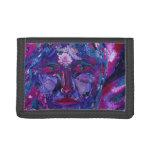 Sight, Abstract Magenta Violet Inner Vision Tri-fold Wallet