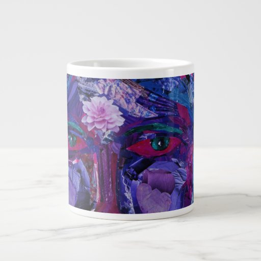 Sight – Magenta & Violet Inner Vision 20 Oz Large Ceramic Coffee Mug