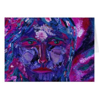 Sight – Magenta & Violet Inner Vision Greeting Card