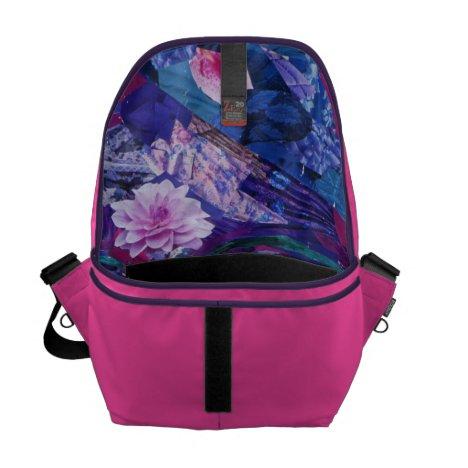 Sight – Magenta & Violet Inner Vision Courier Bag