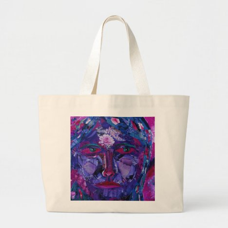 Sight – Magenta & Violet Inner Vision Large Tote Bag
