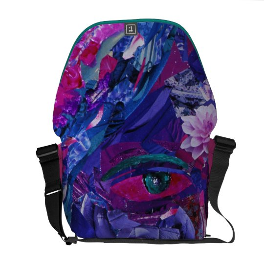 Sight – Magenta & Violet Inner Vision Messenger Bag