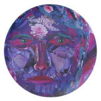 Sight – Magenta & Violet Inner Vision Dinner Plates