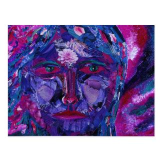 Sight – Magenta & Violet Inner Vision Postcard