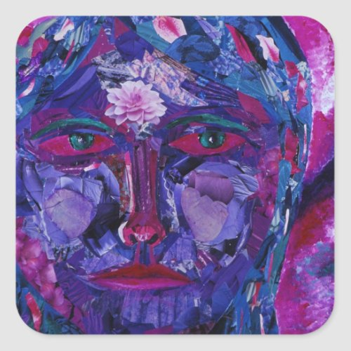 Sight – Magenta & Violet Inner Vision Square Sticker
