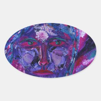 Sight – Magenta & Violet Inner Vision Oval Stickers
