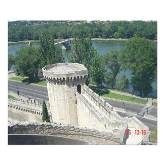 Sight of the Rhone and the ramparts of Avignon Photo Print