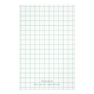 Sight Problems? Use large plaid fabric Stationery