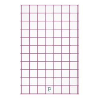 Sight Problems Use large Stationery with Monogram