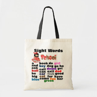Sight Words Budget Tote