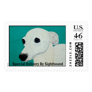 Sighthound Postage Stamp Special Delivery