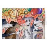 Sighthounds es los juerguistas originales… tarjeta de felicitación