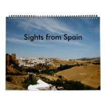 Sights from Spain Calendar