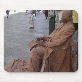 Sights of Madrid: The Human Statue Mouse Pads