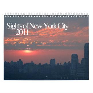 Sights of New York City Calendar