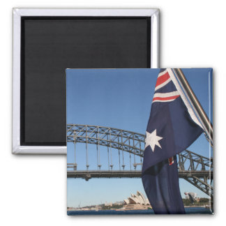 Sights of Sydney 2 Inch Square Magnet