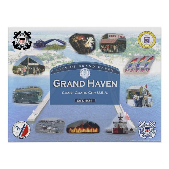 Sights of the Summer - Grand Haven, Michigan Poster