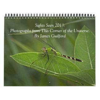Sights Seen 2013 Calendar