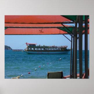 Sightseeing boat in Turkey Print