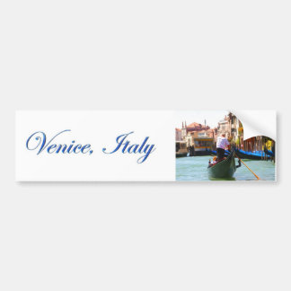 Sightseeing By Gondola Venice Italy Bumper Sticker