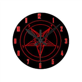 SIGIL de BAPHOMET Reloj Redondo Mediano