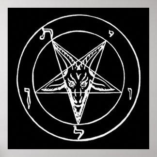Sigil de la iglesia de Baphomet de Satan Póster