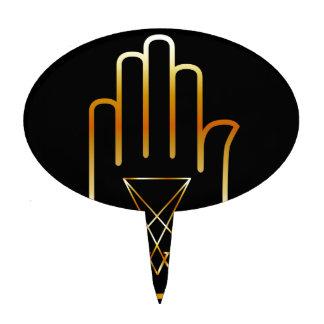 Sigil de Lucifer en una palma Figura De Tarta