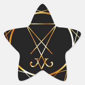 Sigil de Lucifer Pegatina En Forma De Estrella
