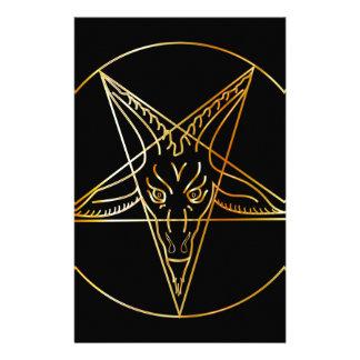 Sigil de oro de Baphomet Papeleria De Diseño