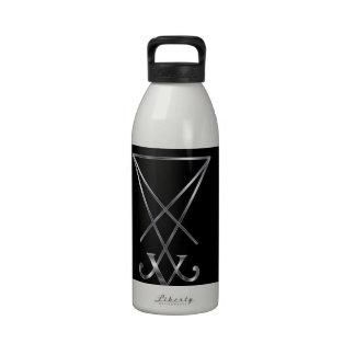 Sigil del símbolo de Lucifer- A del satanism Botellas De Beber