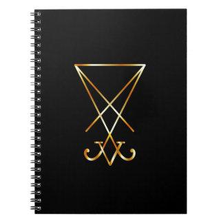 Sigil del símbolo de Lucifer- A del satanism Cuaderno