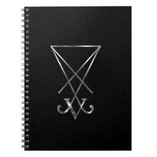 Sigil del símbolo de Lucifer- A del satanism Libro De Apuntes Con Espiral