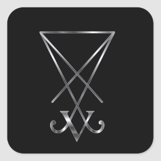 Sigil del símbolo de Lucifer- A del satanism Pegatinas Cuadradases