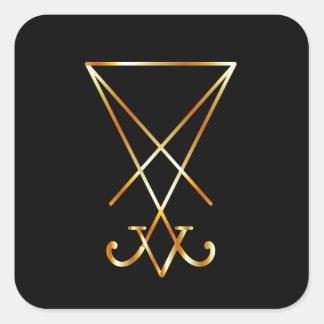 Sigil del símbolo de Lucifer- A del satanism Calcomania Cuadrada Personalizada