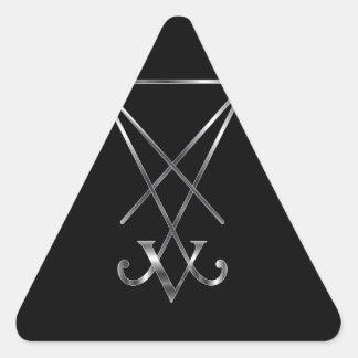 Sigil del símbolo de Lucifer- A del satanism Calcomanías De Trianguloes Personalizadas