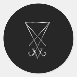 Sigil del símbolo de Lucifer- A del satanism Pegatina Redonda