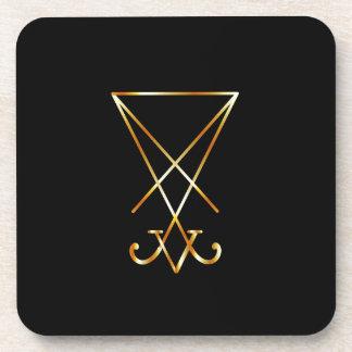 Sigil del símbolo de Lucifer- A del satanism Posavasos De Bebidas