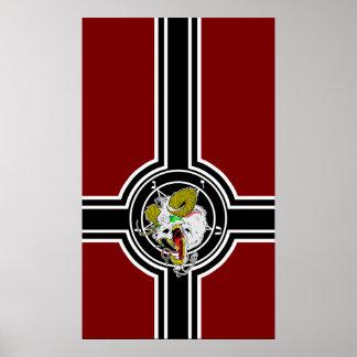 Sigil loco de la bandera de Baphomet Posters
