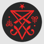 Sigil oculto de Lucifer satánico Pegatina Redonda