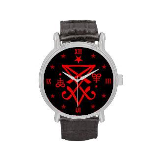 Sigil oculto de Lucifer satánico Relojes De Pulsera