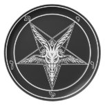 Sigil of Baphomet 10-inch round plate
