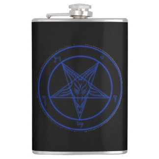 Sigil Of Baphomet (BLUE) Hip Flask