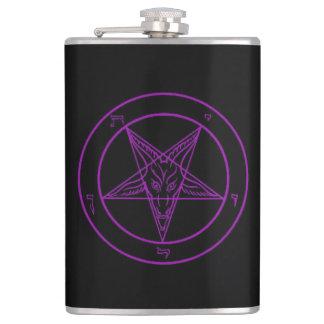 Sigil Of Baphomet (Purple) Hip Flask